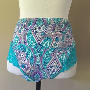 Other - Plus Size 2X Blue Floral Light Support Briefs